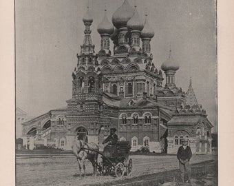 Russia, Winter Palace St. Petersburg, Russian Peasants, Palace and Cathedral Moscow, Cathedral Ostankino, Moscow Prints of 1892 Photos