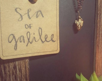 Sea of Galilee | Wire-wrapped | Necklace