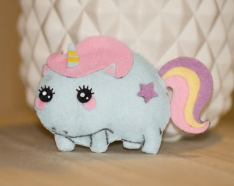 Mini Unicorn plush felt