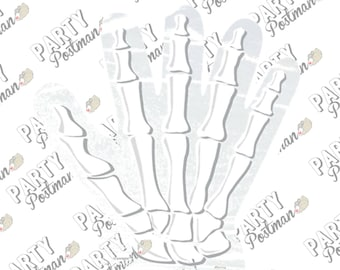 Hand Skeleton themed Cello Bags - Pack of 10