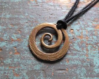 Brass Spiral Pendant