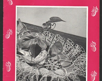 Vintage Ruffled Doily Patterns Crocheted Flat Pineapple Doilies Pageant 1948 Out of Print Coats and Clark Book 252 Contains 13 Designs