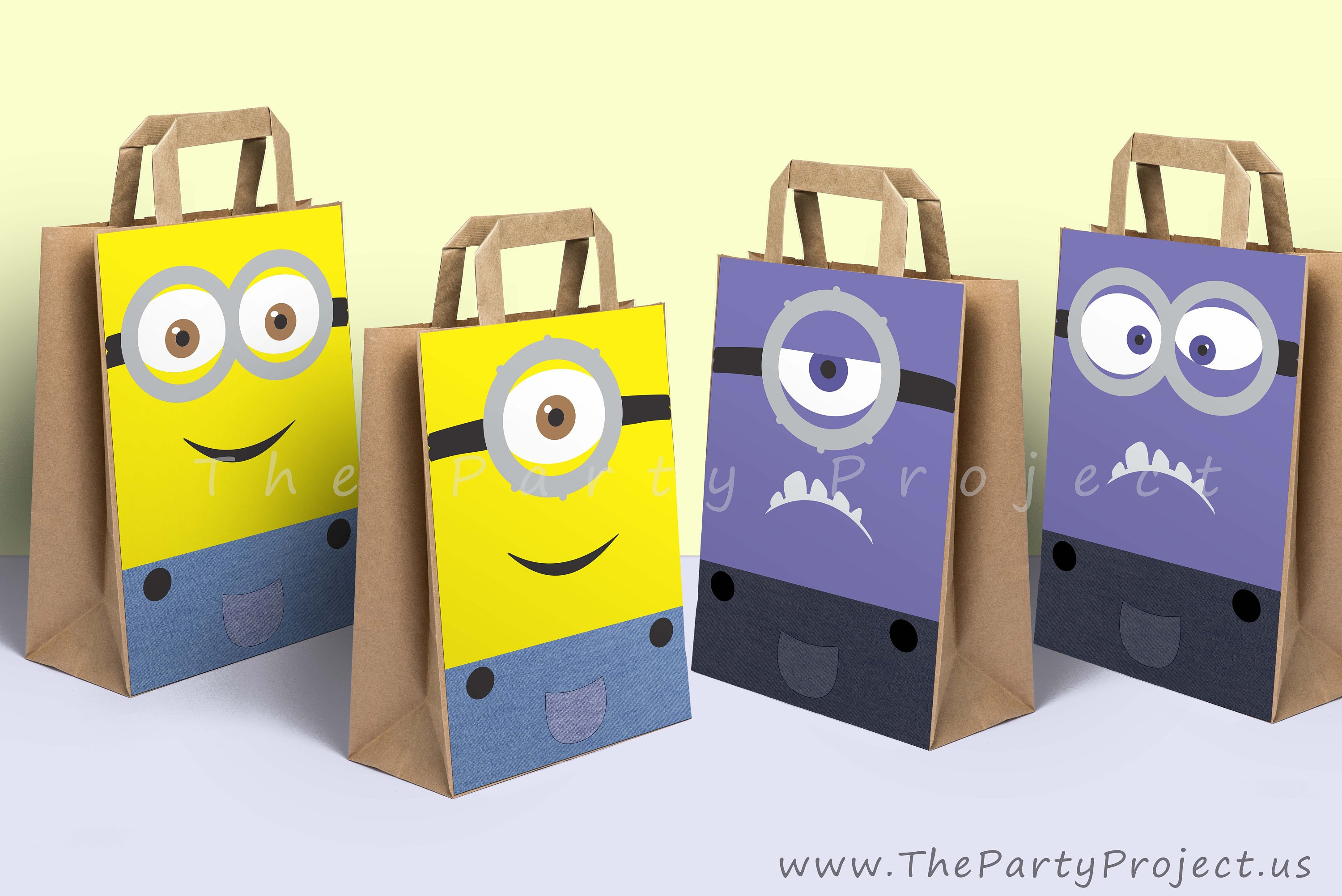 diy printable minions party bags decoration minion candy. Black Bedroom Furniture Sets. Home Design Ideas