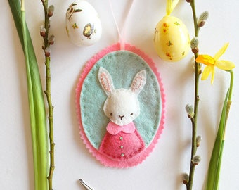 Felt Bunny Ornament Digital Pattern PDF - Rabbit's Favourite Outfit
