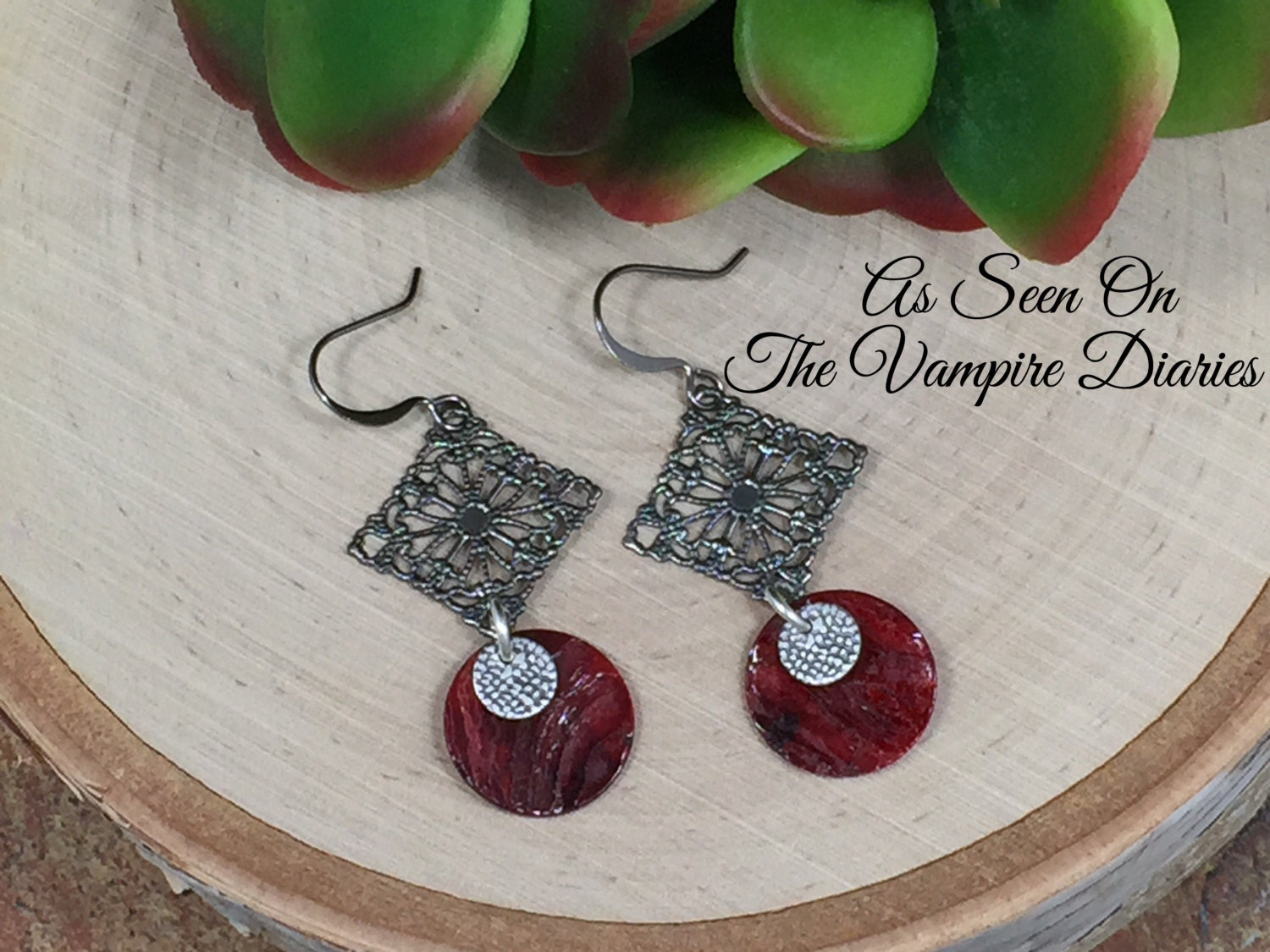 earrings filigree elle in kendra gunmetal gunmeta scott