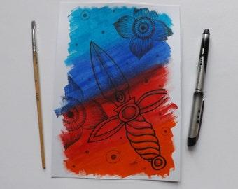 Tradition Blade - Original art piece