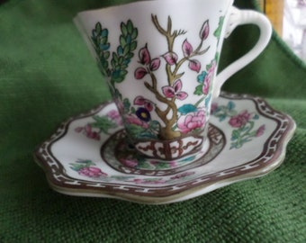 Vintage COALPORT INDIAN TREE Bone China Made in England Cup & Saucer