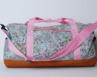 Gym Bag-Weekend Bag-Duffel Bag-Quilted Fabric Duffel Bag -Duffel Bag for Women