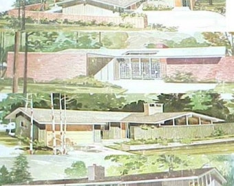 1977 250 Häuser Einstöckige Designs Mitte Jahrhundert Moderne Rana  Esculenta Designs R Pollman Haus Pläne