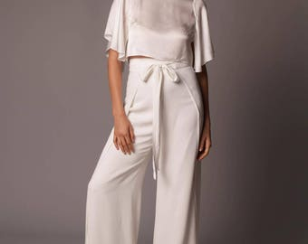 St. Lucia Pant: Contemporary Wide Leg Wrap Pant