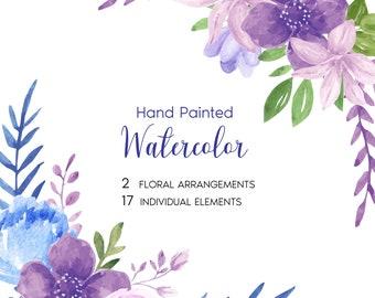 Two Watercolor Floral Arrangements