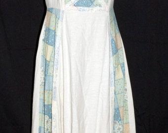 1970s Granny Dress Sz 10 Vintage Retro Hippie