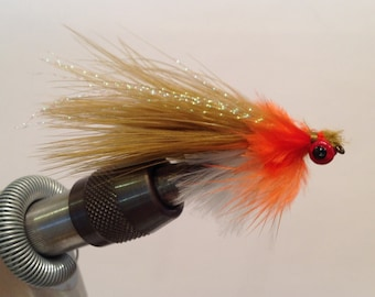 Fly Fishing Flies: Pumpkin Seed Bluegill Streamer - Set of three (3)