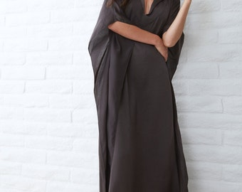 Long Grey Caftan, maxi dress, long kaftan, caftan dress, long dress, tunic, bohemian dress, boho dress, festival dress