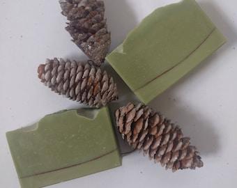 Christmas Pine: Bar soap, Cold Process Soap, Vegan Soap