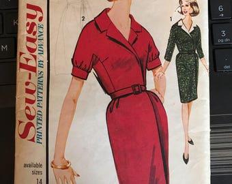 Vintage 60s Sew-Easy 3285 Dress Pattern-Size 14 (34-26-38)