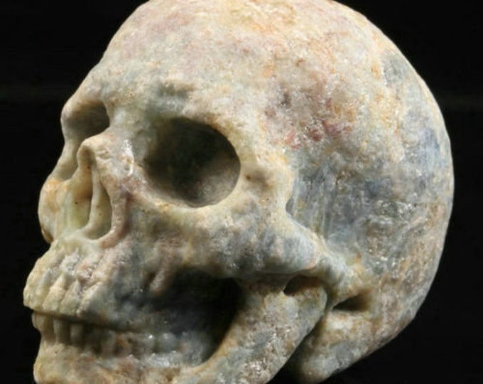 Ruby Fuchsite Carved Skull  #071