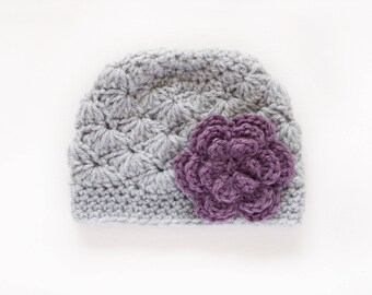 Crochet Girls Hat / Newborn Girl Hat / Girls Beanie / Baby Girl Hat / Baby Shower Gift Girl / Girls Hat / Crochet Baby Hat / Hats For Girls