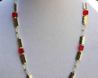 Cube and Rectangle Bead Necklace