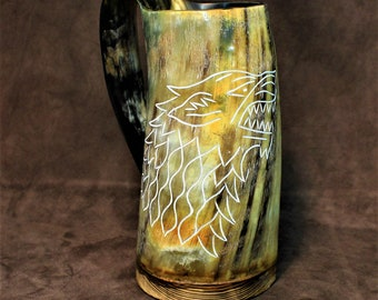 Huge horn mug, epic game of thrones, vikings themed beer drinking cup, drinking horn