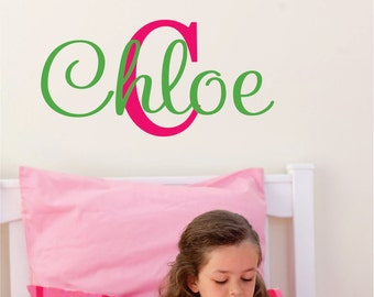 Girls Name Decal, Nursery Wall Decal, Monogram Decal, Vinyl Decals, Teen  Room Decor, Kids Name Sign, Bedroom Decor, Kids Room Decals, Custom