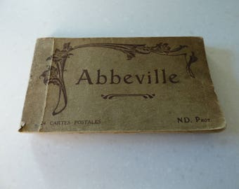 Vintage Postcard Book of 'Abbeville'