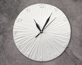 White Clock with numbers Modern WALL CLOCK White wall clock white minimalism home decor