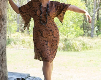 Curvy Caftan, Australian made, kaftan, ethical, sustainable, summer dress, kimono, plus size, adjustable, maternity, tie