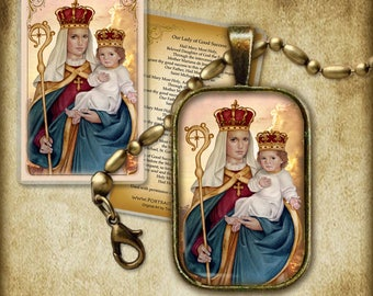 Our Lady of Good Success Pendant and Holy Card GIFT SET #7204
