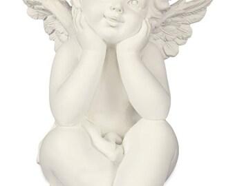 Angelstar 19273 Thoughtful Cherub Angel Figurine, 4-1/4-Inch