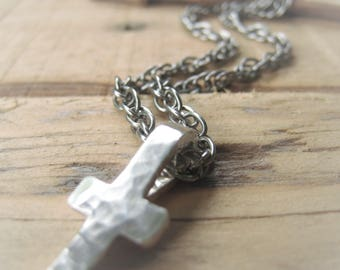 Sterling Silver Cross Pendant Necklace Silver Chain Necklace Item No. 2076 2825