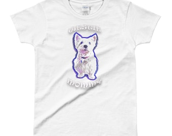 Westie Mommy Ladies' T-shirt