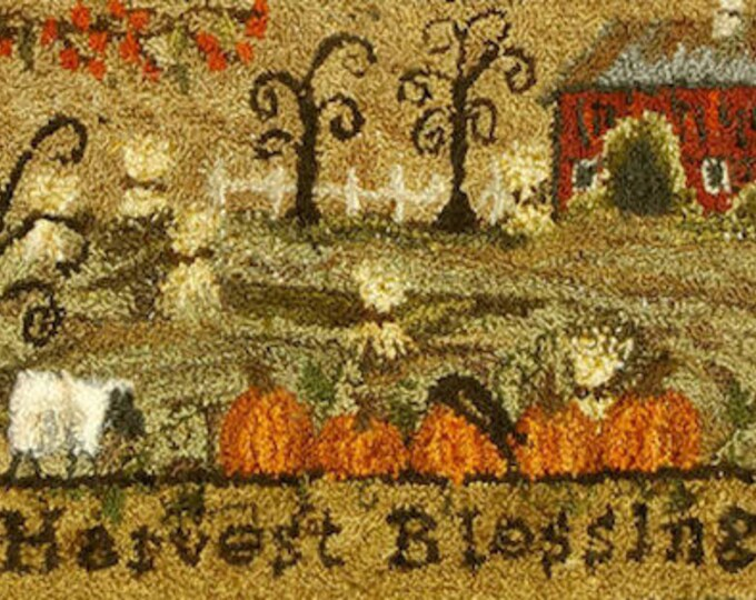 Pattern: Harvest Blessings Punch Needle Pattern Packet by Kanikis Prims and Whims