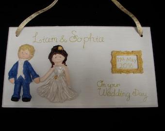 Personalised Wedding Gift Personalized Wedding Gift Wall Art Custom Plaque Custom Wedding Gift