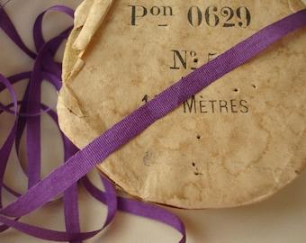 5 Yards - Violet Silk Ribbon - 1/8 Inch