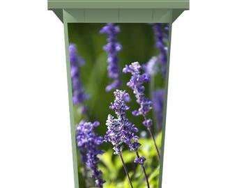 Wild Purple Flowers Wheelie Bin Sticker Panel
