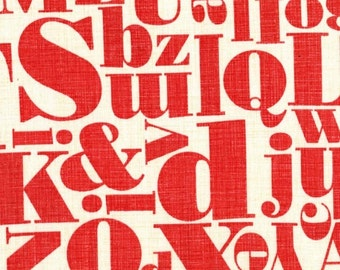 Michael Miller Just My Type by Patty Young Letterpress in Red