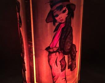 Vintage Eden Big Eyes Table Lamp Night Light