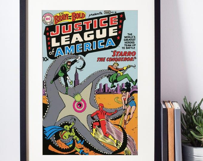 Wonder Woman Wall Art / Superhero Girl / Wonder Woman Poster / Justice League / DC Comics / Geeky Baby Gift /  Wonder Woman Art / Nerdy Girl