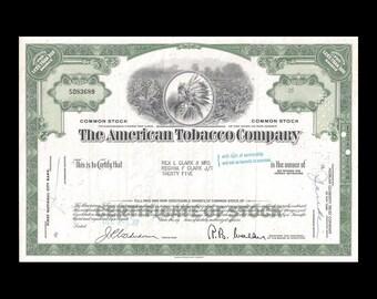 American Tobacco Company 1967 Stock Certificate