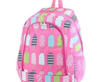 Popsicls Monogram Backpack, Personalized Backpack, Monogram Bookbag, Girls Backpack, Pink Backpack, Kids Backpack, School Backpack