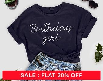 Birthday Girl Shirt, Birthday Girl TShirt, Birthday Shirt with Heart, Cute Birthday Shirt for Women, Birthday Girl Shirt for Ladies, top