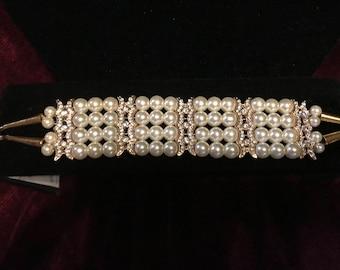 Victorian Style Pearl Bracelet