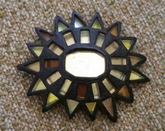 Vintage Mirrored Sun Brooch