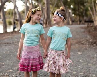 Girls BFF Besties Best Friends Forever Shirts-pair