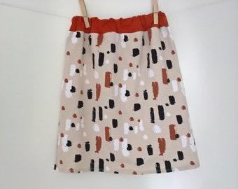 Skirt baby / child / girl in organic cotton jersey