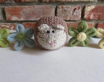 Soft Brown Hand Knitted Hedgehog / woodland animal gift / hedgehog ornament
