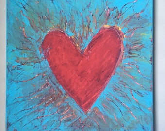 Mended Heart Original Acrylic Painting