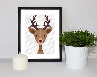Children & Nursery Bedroom Decor - Deer Forest Animal