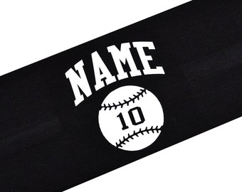 Softball Headband Personalized with Your CUSTOM Name and TEAM Colors  - Vinyl Text